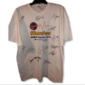 Indiana Fever TEAM Tamika Catchings auto shirt